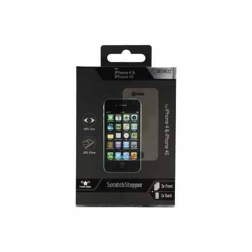 Artwizz ScratchStopper Schutzfolie für iPhone 4/4S transparent - neu