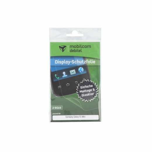 mobilcom debitel Displayschutzfolie 2 Stück Samsung Galaxy S3 Mini klar - neu