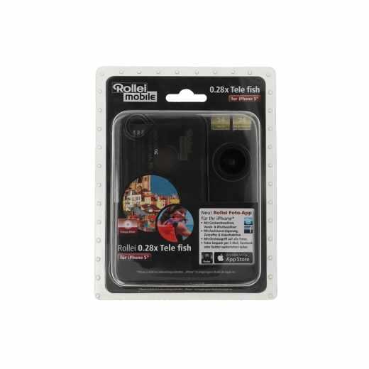 Rollei Tele Fisheye Objektiv Linse (0,28x) für Apple iPhone 5 schwarz - neu