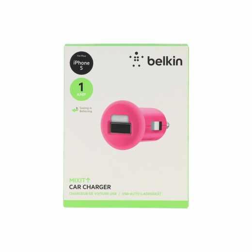 Belkin USB Car Charger für iPod iPhone 6/6 Plus Navis Smartphones pink
