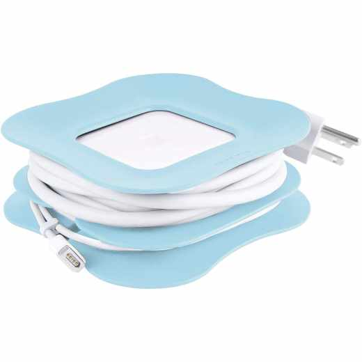 Quirky PowerCurl 85 Watt Kabelhalter für MacBook Pro blau - neu