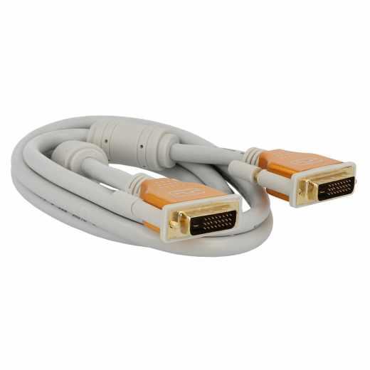 Networx DVI Monitorkabel 2 Meter grau - neu