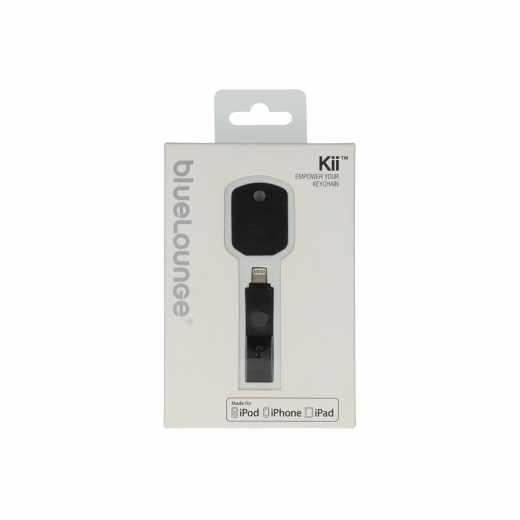 Bluelounge Kii Ladegerät Lightning Apple iPhone5 Synchronisationsstecker schwarz - neu