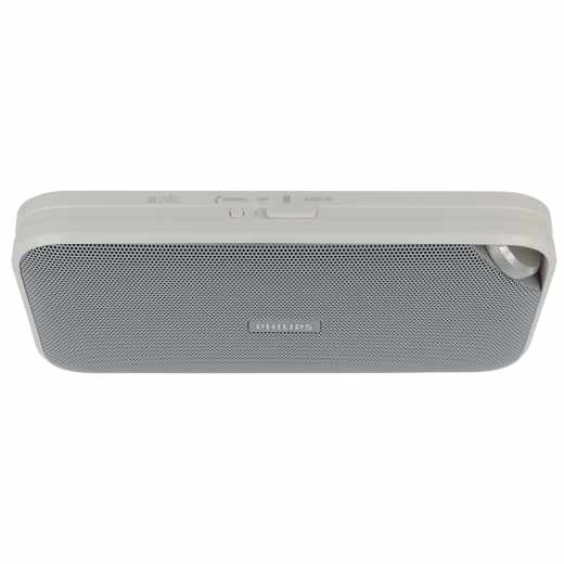 Philips BT3500W Bluetooth Lautsprecher Musik-Streaming Mikrofon weiß - gut