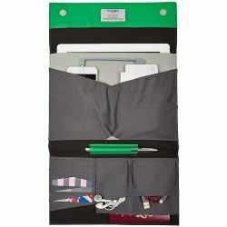 Knomo Bags Knomad Soho Ledertasche für iPad Air 2 10 Zoll Organiser grün - neu