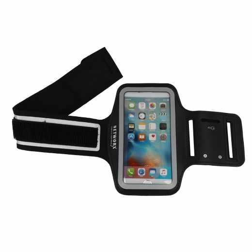 Networx Universal Sportarmband Neopren bis 4,3 Größe S Smartphone schwarz - neu