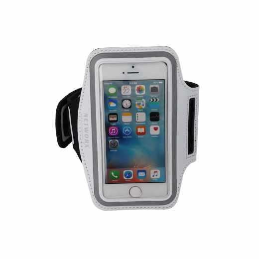 Networx Universal Sportarmband Neopren Handyhalterung Größe S weiß - neu