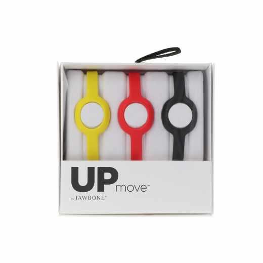 Jawbone UP Move Standard-Armband 3-er Pack für UP Move Tracker schwarz/rot/gelb