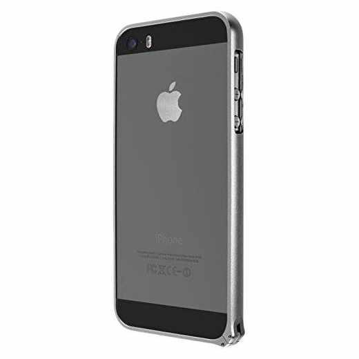 Artwizz Alu Bumper Hülle für Apple iPhone SE und 5/5s grau - neu