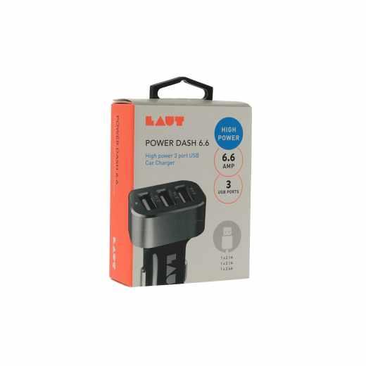 LAUT Power Dash Auto USB-Ladegerät für Smartphones Tablets 3x USB schwarz