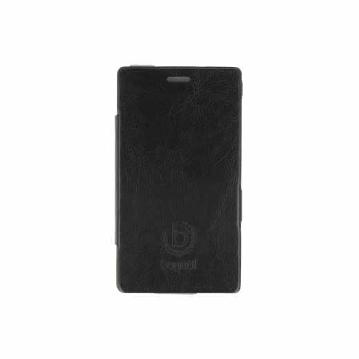 Bugatti Lumia 925 UltraThin BookCase Leder Handy Tasche Handyhülle schwarz