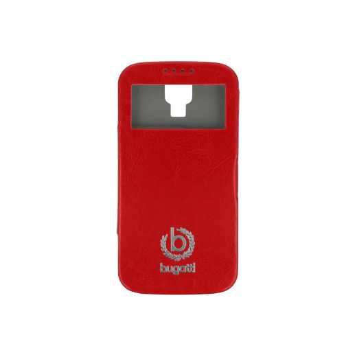 bugatti BCG-SA-Galaxy S4 red Bookcase Geneva Galaxy S4 Leder Handy Tasche rot