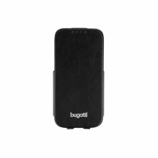 bugatti Flip Case Geneva Handyhülle für Samsung Galaxy S4 mini schwarz - neu