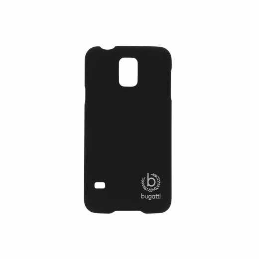bugatti Clip-On Cover Handyhülle für Samsung Galaxy S5 schwarz - neu