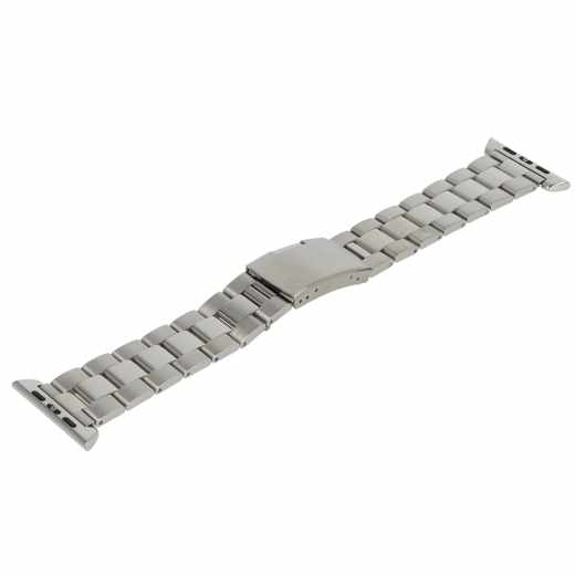 Monowear Metall Gliederarmband mit poliertem Adapter Watch 38mm silber