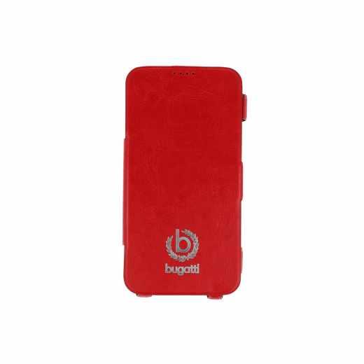 bugatti BCG-SA-Galaxy S5 red Bookcase Geneva Galaxy S5 Leder Handy Tasche rot