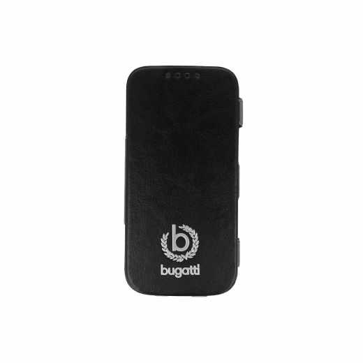 bugatti BookCase Geneva Handy Klapphülle für Samsung Galaxy S4 mini schwarz - neu