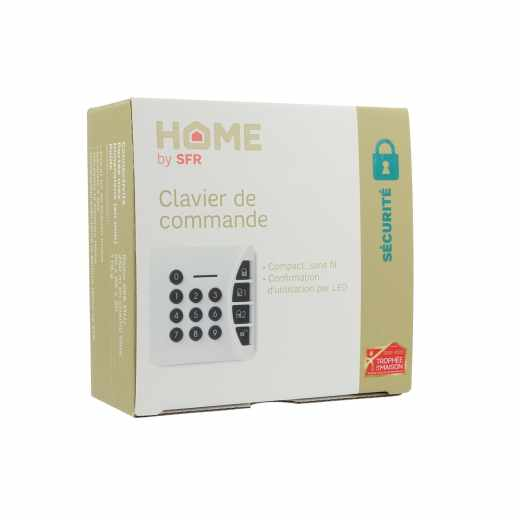 MobilcomDebitel SmartHome-Sicherheit Tastatur kabellose Tastatur Geheimcode weiß