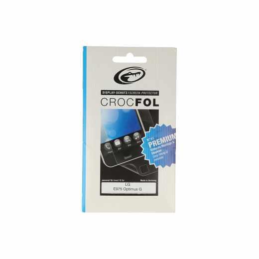 Crocfol Display-Schutz Schutzfolie (2Stk.) Premium LG E975  Optimus G
