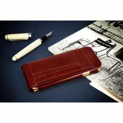 Krusell Kalmar Wallet FlipCase Handytasche Schutzhülle Leder iPhone 6 / 6s braun