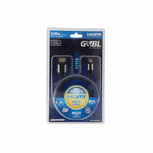 G&BL High Speed HDMI-Mikrokabel mit Ethernet-Kanal Länge 0,60 m schwarz