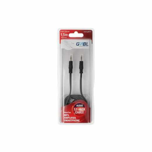 G&BL Anschlusskabel Audio 3,5mm Stereo Stecker 1,5 m schwarz
