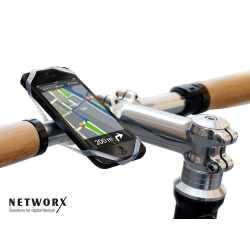 Networx Finn Fahrradhalterung für Smartphones mit Navigations-App transparent
