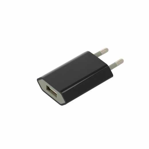 Networx USB Netzteil 1A USB Port 1.000 mA für Smartphones schwarz