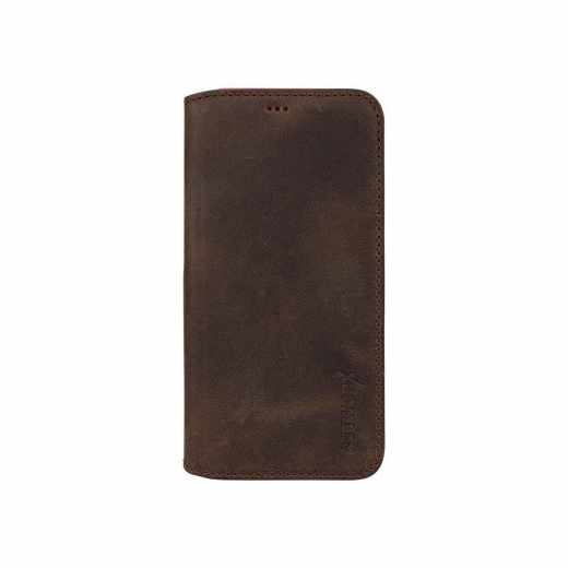 Networx Leder BookCase Schutzhülle Tasche Samsung Galaxy S7 Hero antikbraun