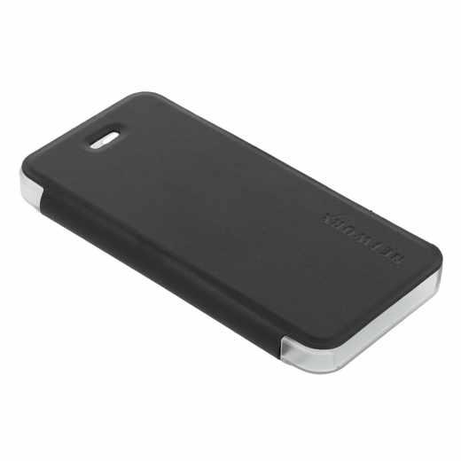 Networx Flip Cover Kunstleder Schutzhülle Schale Tasche  iPhone SE/5/5s schwarz