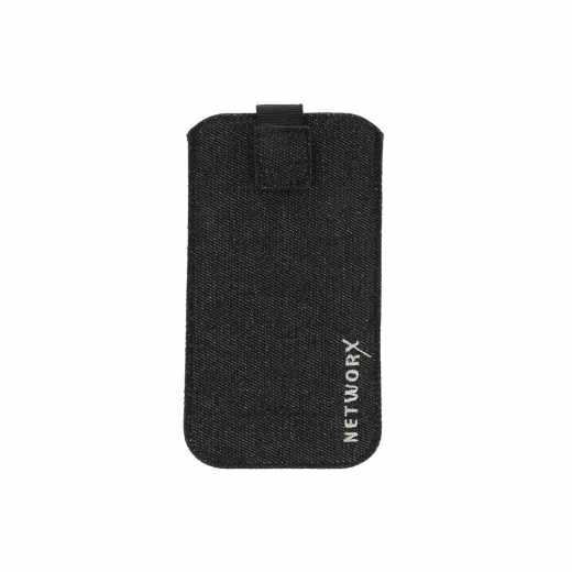 Networx Universaltasche M Schutzhülle für Smartphones Jeansstoff blau - neu