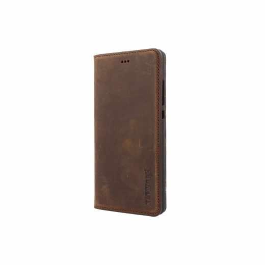 Networx Leder Schutzhülle BookCase Huawei P8 lite Ledertasche Etui antikbraun