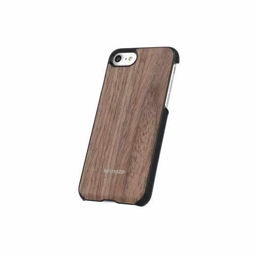 Mozo Handyschale Holzschutzhülle für Apple iPhone 7 schwarz walnuss