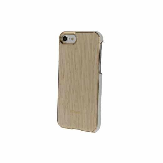 Mozo hochwertige Handyschale Holzschutzhulle fur Apple iPhone 7 , helle eiche