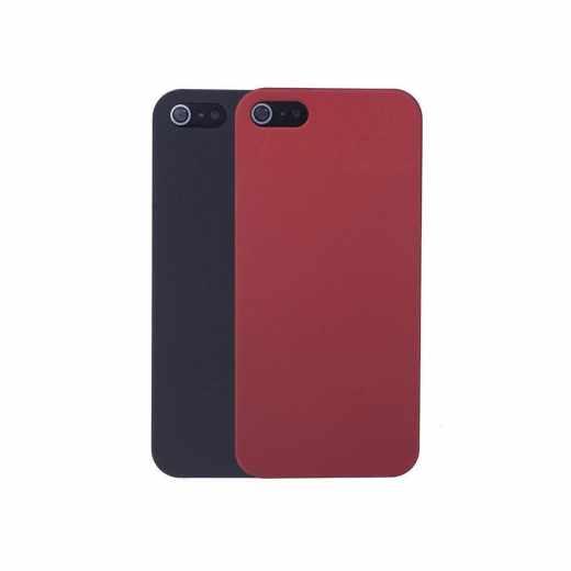 Networx Rubber Case 2 for 1 Schutzhülle für iPhone 5/5s/SE 2er-Set schwarz/rot