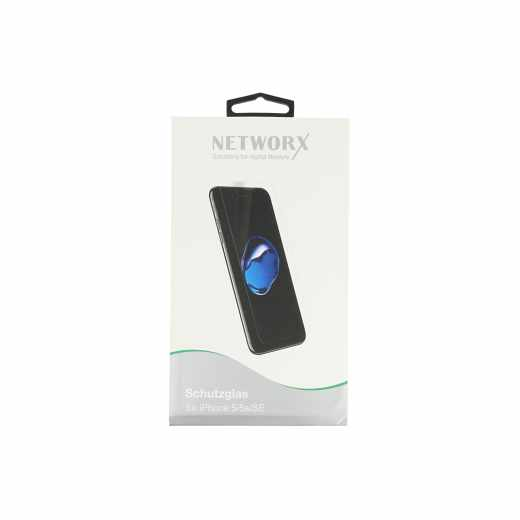 Networx protective glass Schutzglas für iPhone SE Displayschutz transparent