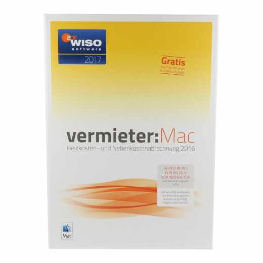 WISO vermieter:Mac 2017 - Heizkosten- und Nebenkostenabrechnung 2016 für MAC