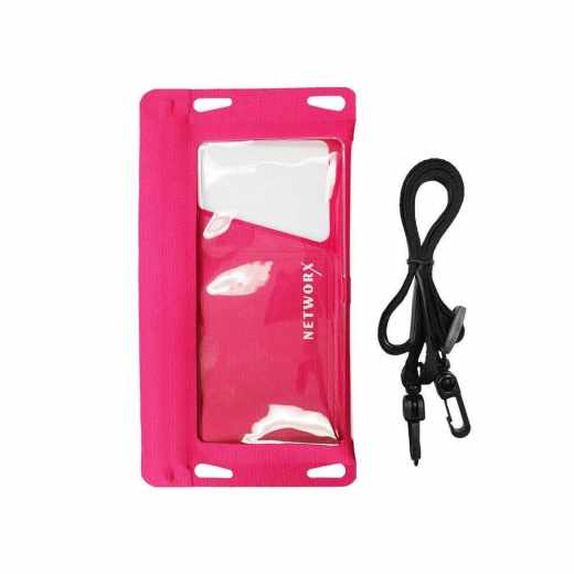 Networx Universal Strandtasche Schutzbeutel für Smartphones bis 5,5 pink