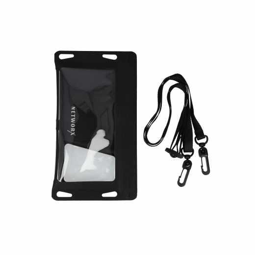 Networx Universal Strandtasche Schutzbeutel für Smartphones bis 5,5 Zoll schwarz
