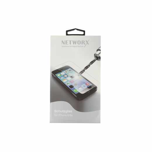 Networx Schutzglas protective glass für iPhone 6/6s passgenau transparent