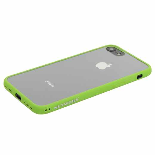 Networx Hybrid Case für Apple iPhone 7/8 Schutzhülle Handyhülle Schale grün/klar