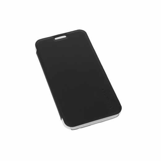Networx Handyhülle Schutzhülle für Samsung S6 Smartphone Flip Cover schwarz - neu
