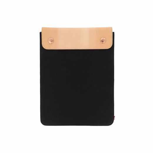 Herschel Spokane Leder Sleeve Spacesuit Tasche iPad Air 2 schwarz - neu