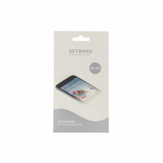 Networx Schutzfolie  für Apple iPhone 5/5s/5c/SE transparent - neu