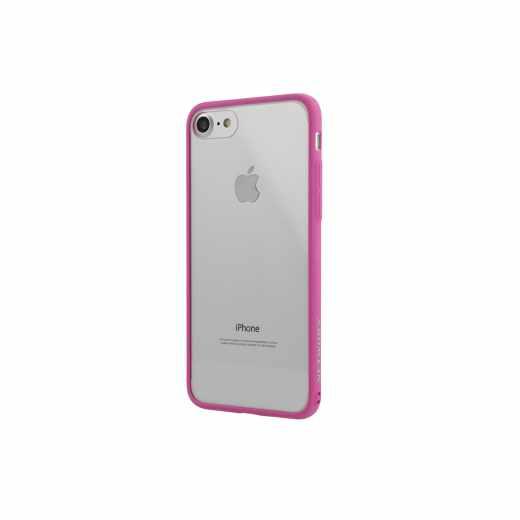Networx Hybrid Case für  iPhone 7/8 Schutzhülle Handyhülle Schale pink/klar