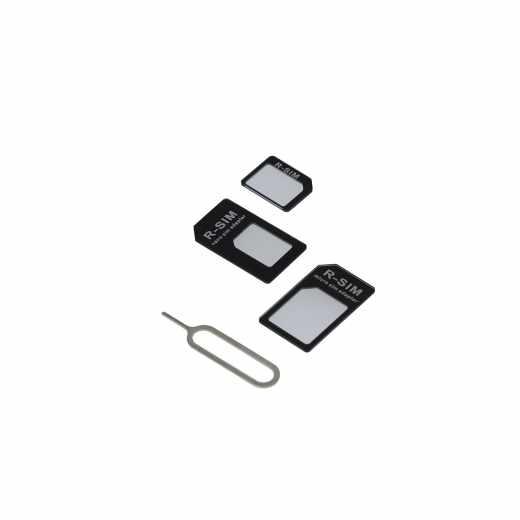 freenet Basics Nano Micro SIM Karten Adapterset schwarz - neu