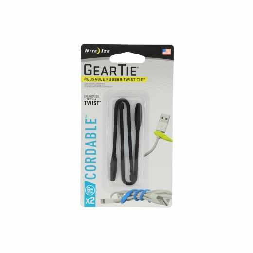 Nite Ize Gear Tie Spannriemen Kabelbinder Größe 6 2er Pack schwarz - neu