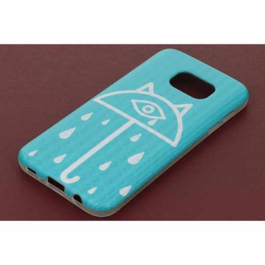 Networx 3D Smartphonetasche Schutzhülle Backcover Samsung Galaxy S7 Case - blau