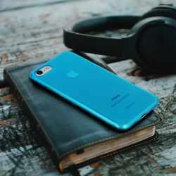 CASEual Flexo Slim Schutzhülle iPhone 7 Silikon Case Handyhülle Smartphone blau -neu