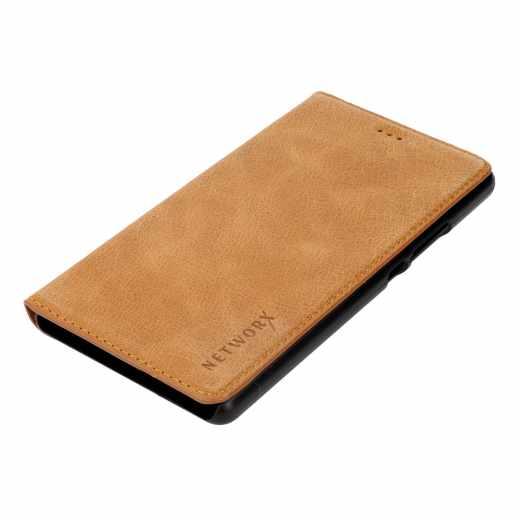 Networx Leder BookCase Schutzhülle Schale Tasche für Huawei P9 lite braun